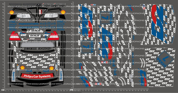 1/10TH TAM 58139 - AMG MERCEDES-BENZ DTM D2 DECALS
