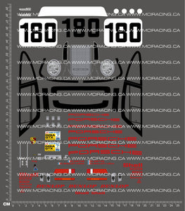 1/10TH PORSCHE - 961 1986 DECALS