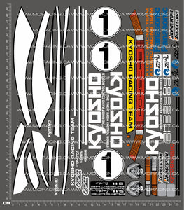 1/10TH KYOSHO - PORSCHE 911 DECALS