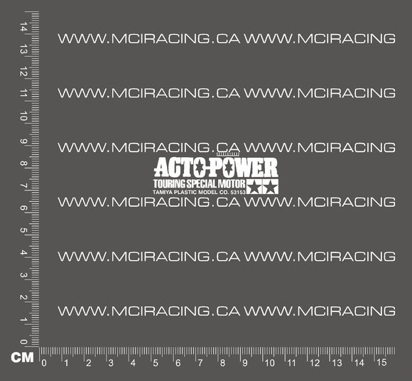 540 MOTOR DECAL - ACTO-POWER TOURING SPECIAL MOTOR