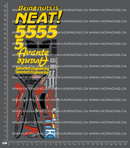 1/10TH TAM 58072 - AVANTE DECALS