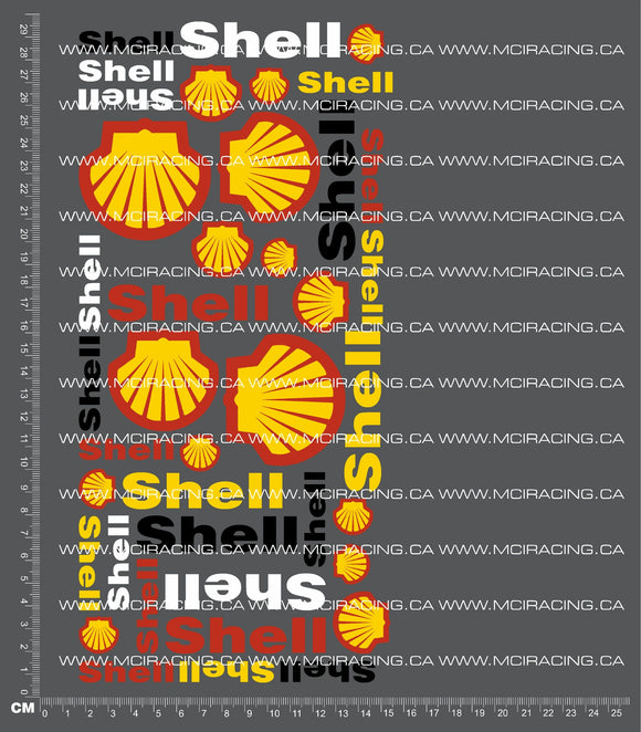 1/10TH SHELL DECALS