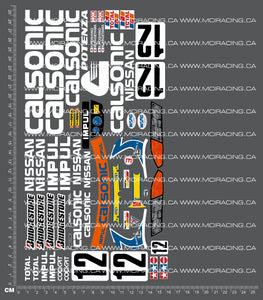 1/10TH TAM 58135 - CALSONIC SKYLINE GT-R GR.A DECALS