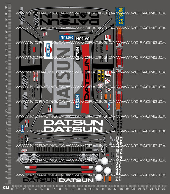 1/12TH HPI DATSUN 510 DECALS