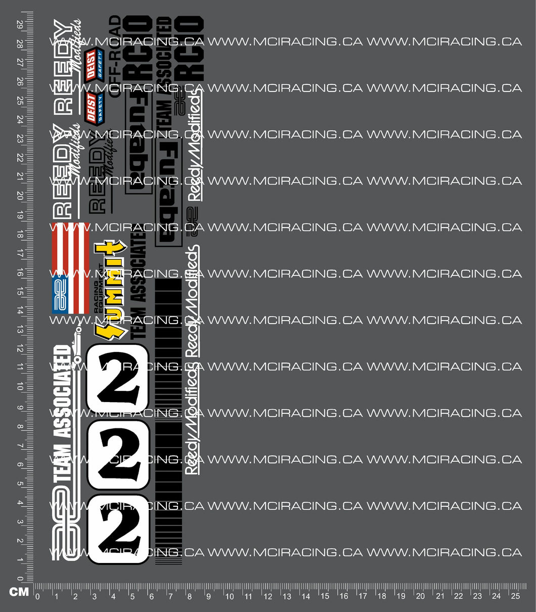 1/10TH ASSOCIATED - RC10 - MAGAZINE ART - #2 DECALS