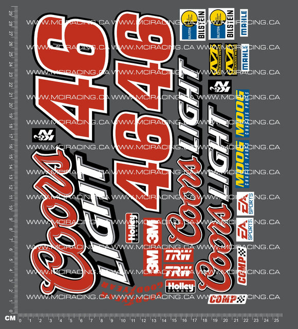 1/10TH SHORT COURSE TRUCK - COORS LIGHT DECALS