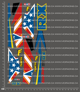 1/10TH TAM 58184 - FIGHTER BUGGY DECALS