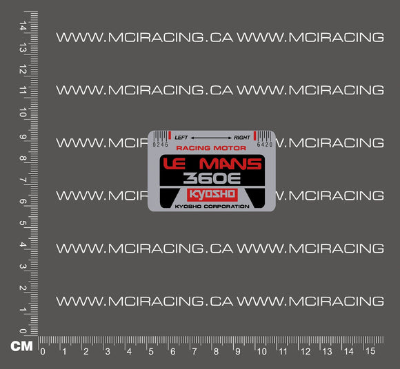 540 MOTOR DECAL - KYOSHO LEMANS 360E