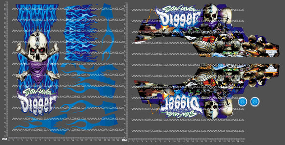 1/10TH MONSTER TRUCK - SON DIGER DECALS