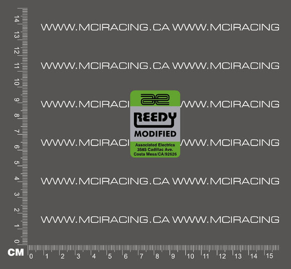 540 MOTOR DECALS - REEDY MODIFIED GREEN