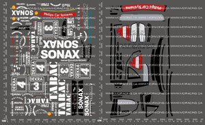 1/10TH TAM 58139 - AMG MERCEDES-BENZ SONAX TABAC DECALS