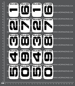 1/10TH BOLINK - NUMBER DECALS DECALS