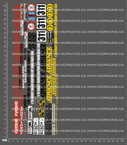 1/10TH KYOSHO - ADVANCE DECALS