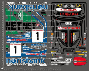 1/10TH TAM 58259 - SUBARU IMPREZA GERMAN RALLY CHAMPION DECALS