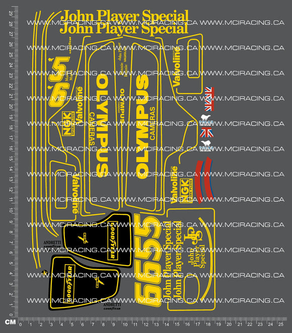 1/10TH TAM 58020 - JPS LOTUS 79 (CS) DECALS