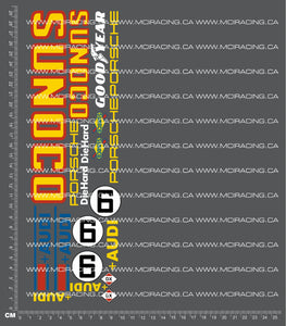 1/10TH PORSCHE - 917 SUNOCO DECALS