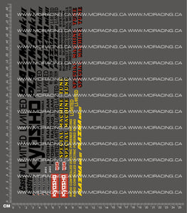 1/12TH KYOSHO - PLAZMA LIMITED DECALS