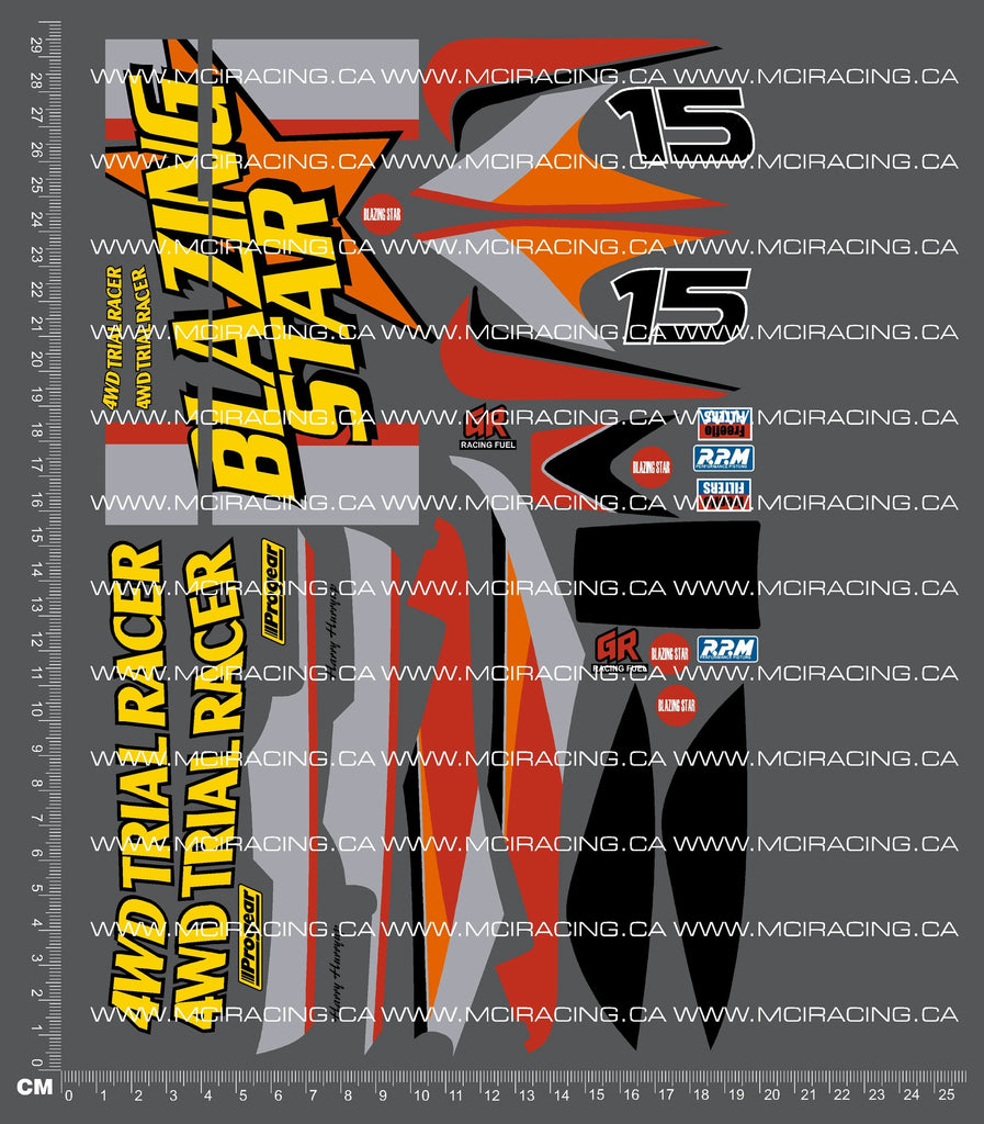 1/10TH TAM 58204 - BLAZING STAR DECALS