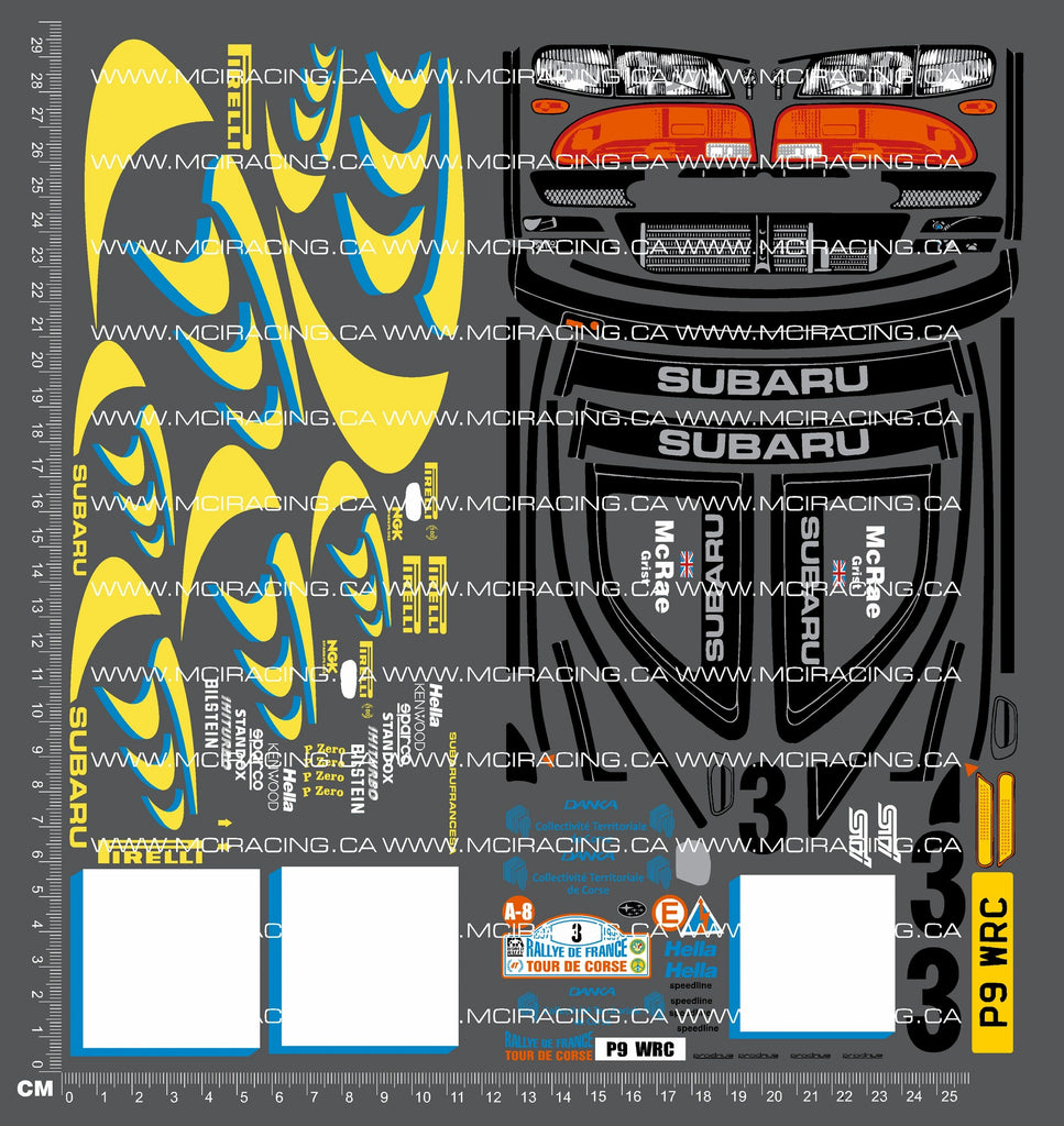 1/10TH TAM 58210 - SUBARU IMPREZA WRC 97 DECALS