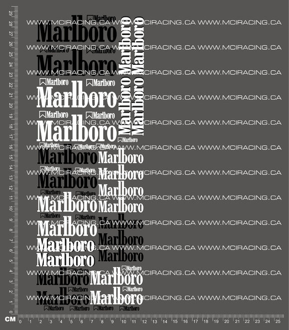 1/10TH MARLBORO V2 DECALS
