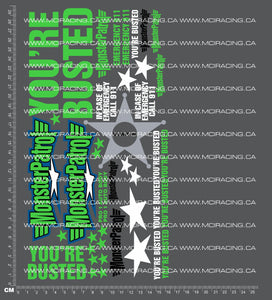 1/10TH MONSTER TRUCK - PATROL - VERSION 1 DECALS