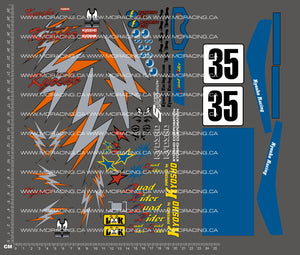 1/10TH KYOSHO - QUAD RIDER ATV DECALS - VERSION 2