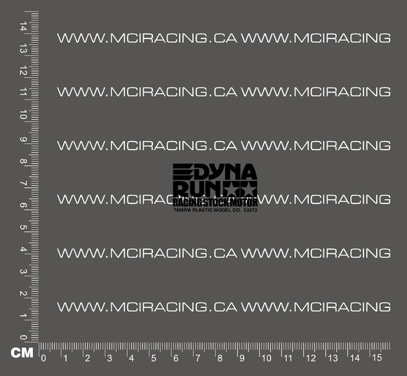 540 MOTOR DECAL - DYNA RUN RACING STOCK MOTOR - BLACK