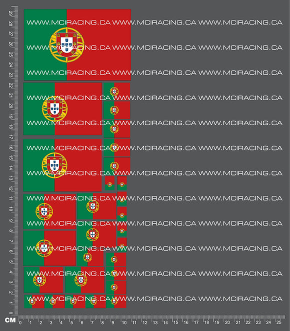1/10TH FLAGS - PORTUGAL DECALS