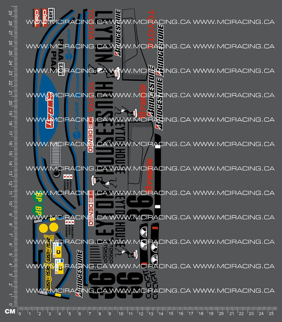 1/12TH TAM 58049 - TOYOTA TOM'S 84C - VERSION 3 DECALS