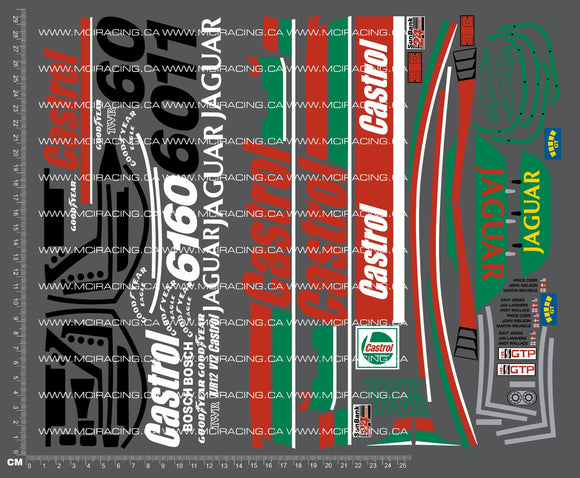 1/10TH TAM 58092 - JAGUAR XJR 12 DAYTONA DECALS