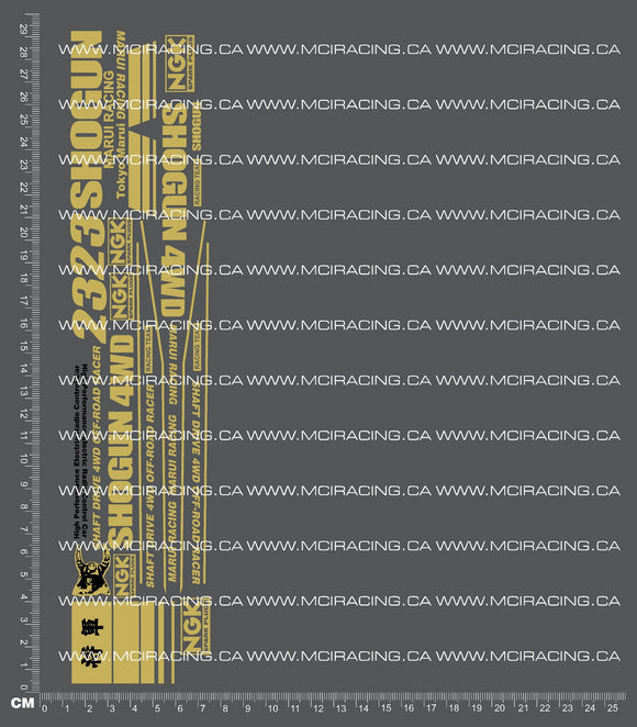 1/10TH MARUI - SHOGUN DECALS