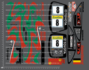 1/10TH TAM 58201 - TOYOTA CELICA CASTROL GT-FOUR DECALS