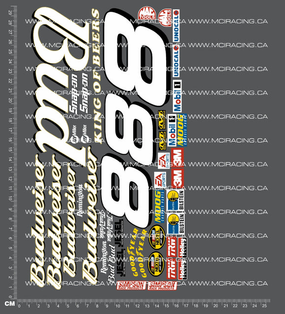 1/10TH NASCAR - BUDWEISER DECALS