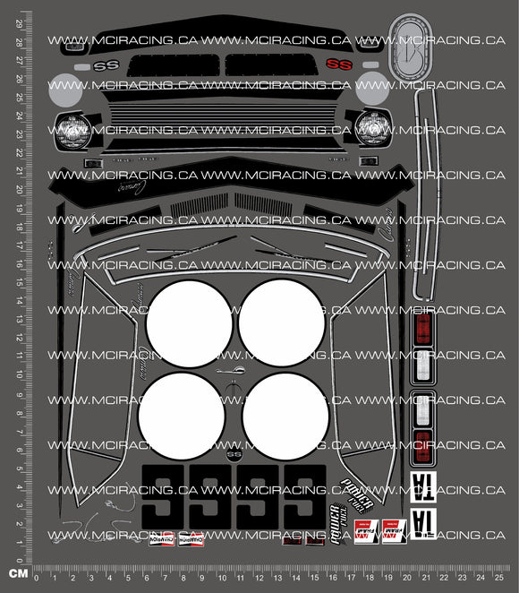 1/10TH HPI - TRANS AM - 1968 CHEVROLET CAMARO DECALS