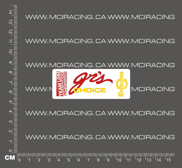 540 MOTOR DECAL - LOSI - JR'S CHOICE