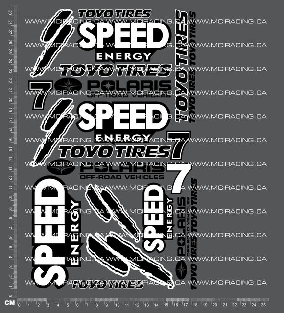 1/10TH SHORT COURSE TRUCK - SPEED DECALS
