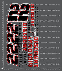 1/10TH NASCAR - DISCOUNT TIRE DECALS