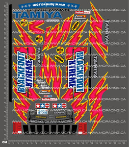 1/10TH TAM 58312 - BLACKFOOT XTREME DECALS