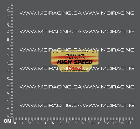 540 MOTOR DECAL - LE MANS PRO - HIGH SPEED