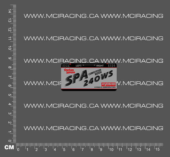 540 MOTOR DECAL - KYOSHO 240 WS SPA