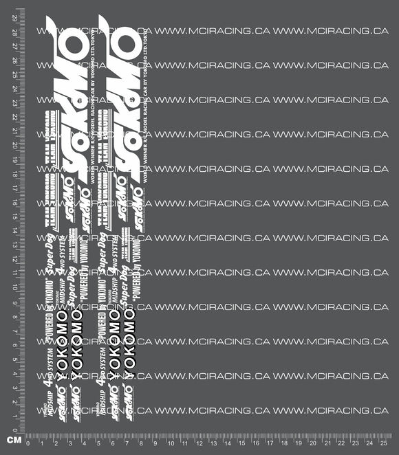 1/10TH YOKOMO - WORKS 93 - BOX ART DECALS