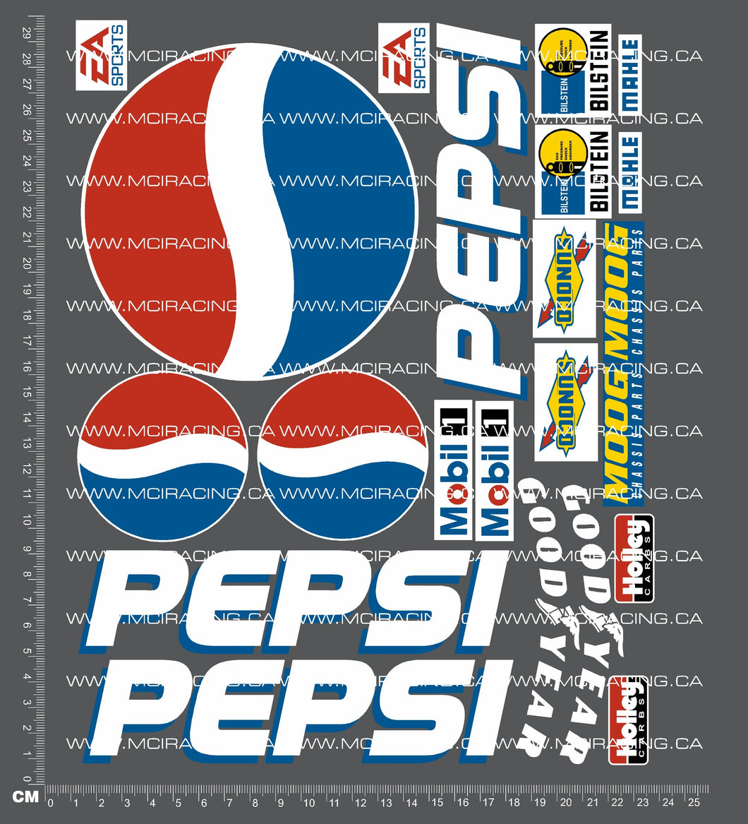 1/10TH SHORT COURSE TRUCK - PEPSI DECALS