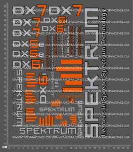 1/10TH SPEKTRUM DECALS