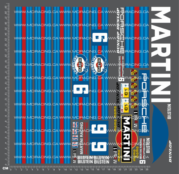 1/10TH PORSCHE 962 - MARTINI DECALS