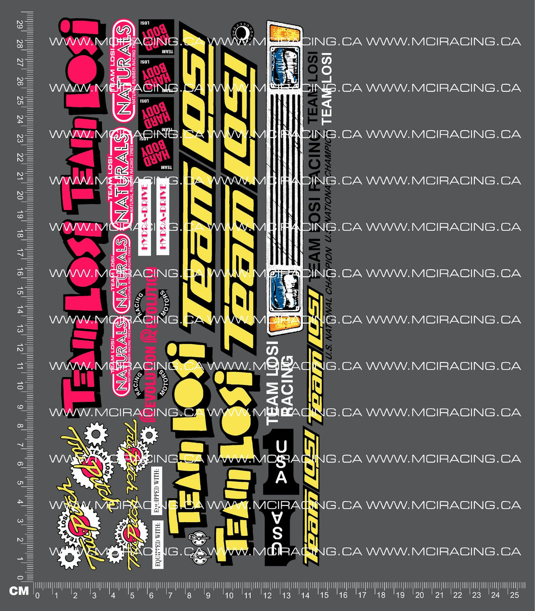 1/10TH LOSI - LXT DECALS