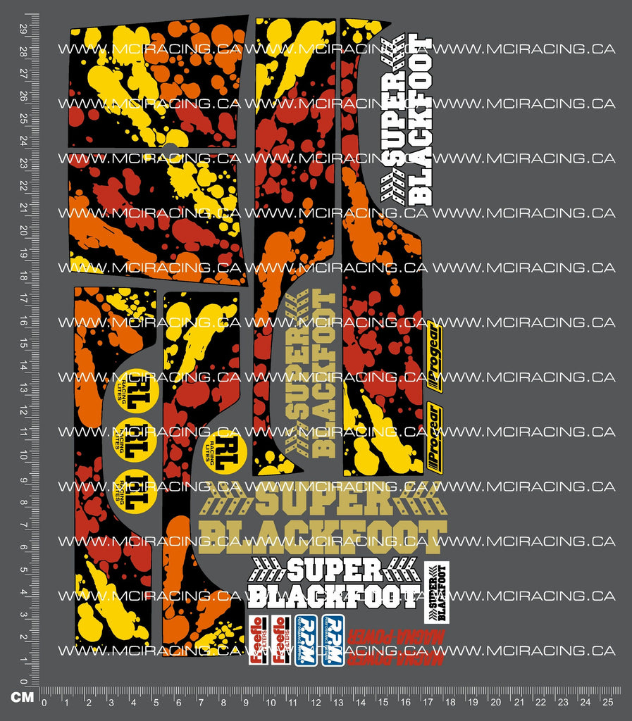 1/10TH TAM 58110 - SUPER BLACKFOOT DECALS