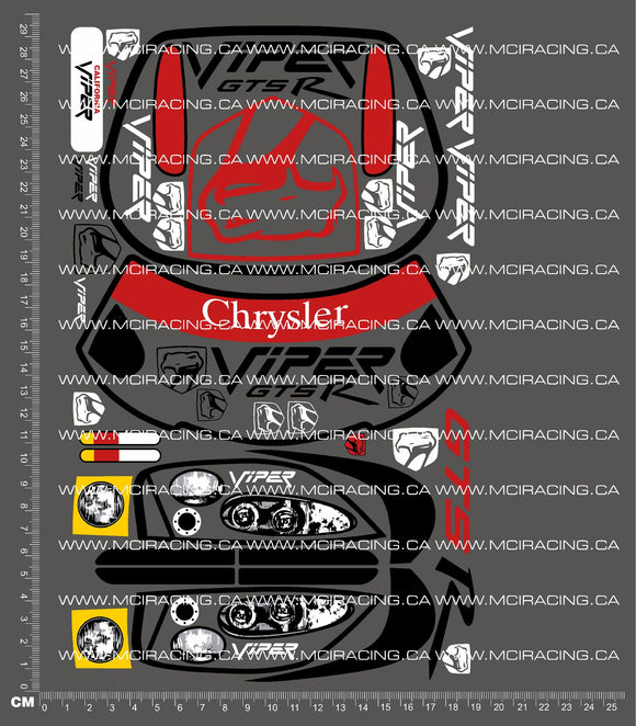 1/10TH SUPER HPI - SUPER RS4 - DODGE VIPER - DECALS