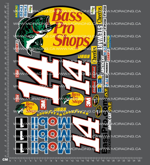 1/10TH NASCAR - BASS PRO DECALS