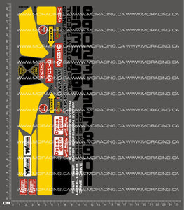 1/10TH KYOSHO - OPTIMA MID CUSTOM SPECIAL DECALS
