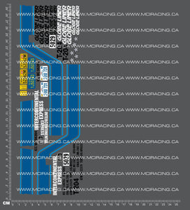 1/14TH TAM 56304 - GLOBE LINER TRUCK DECALS